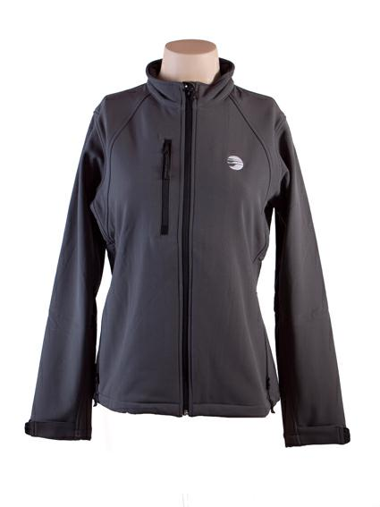 CAZADORA SOFT SHELL MUJER GRIS OSCURO